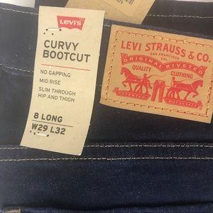 Levi's Jeans - Levi's Curvy Bootcut Mid Rise Jeans 8 Long 29x32